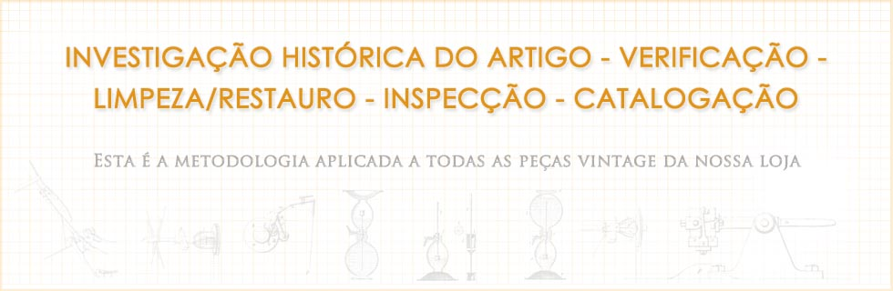 Artigos vintage limpos, inspeccionados e restaurados